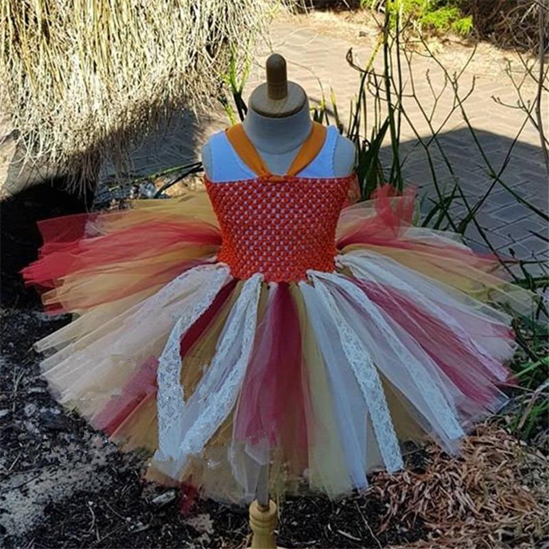 Popular Princess Moana Tutu Dress Lace Tulle Flower Costume Party Xmas Cosplay