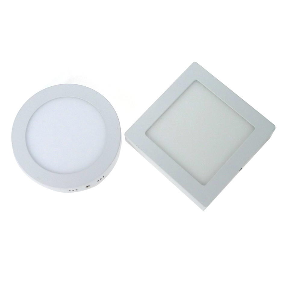 Surface mounted led panel light 6w 12w 18w roundsquare led ceiling surface mounted led panel light 6w 12w 18w roundsquare led ceiling lights led downlight ac85 265v smd2835 ceiling lamp in led panel lights from lights aloadofball