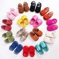 Nova Verão Meninas Da Criança Macio Sole Ouro Couro PU Bebê Primeiros Sapatos Caminhantes, moda Slip-on Partido Do Bebê Prewalker Bebe Sapatos
