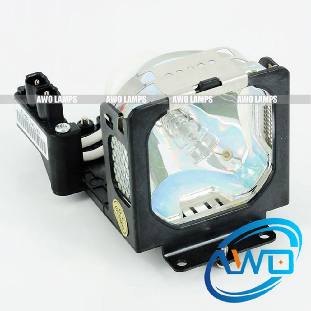 AWO Free Shipping LV-LP21 Projector Replacement Lamp Module for CANON LV-X4 LV-X4E 180 Day Warranty awo projector lamp sp lamp 005 compatible module for infocus lp240 proxima dp2000s ask c40 150 day warranty