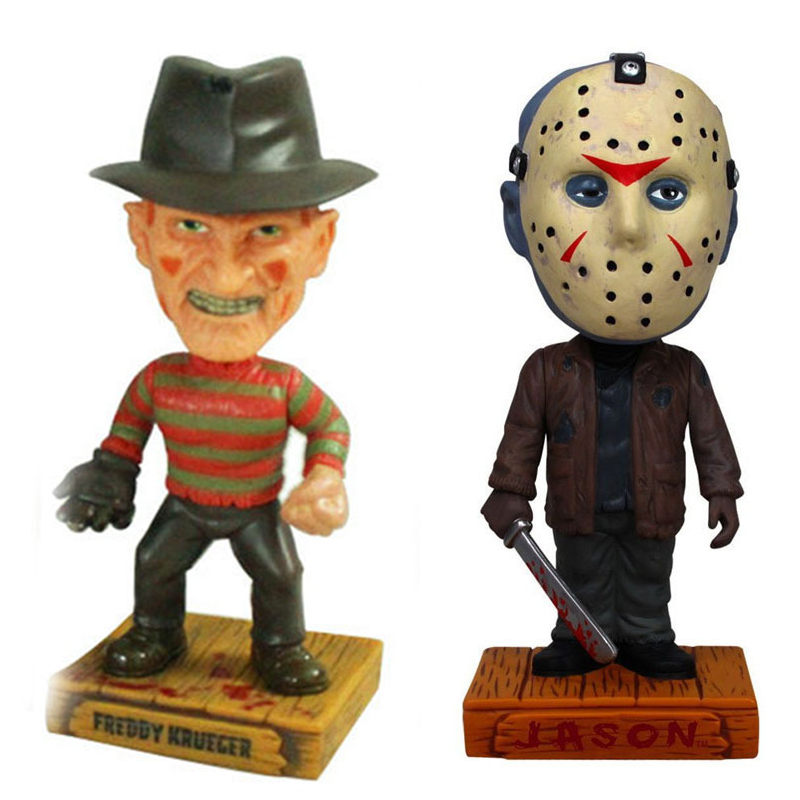 Elsadou a <font><b>Nightmare</b></font> <font><b>on</b></font> <font><b>Elm</b></font> <font><b>Street</b></font> Freddy and Jason Action Figures Wacky Wobble Bobble Hood with Retail Box