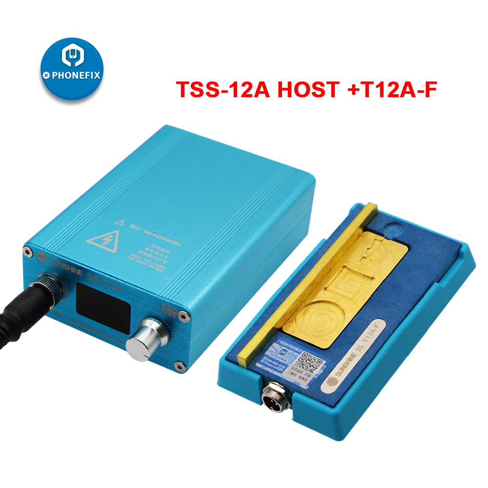 SS-T12A iPhone 6 7 8 X XS MAX PCB motherboard Disassembly Desoldering Heating Station 185 degrees accurate Rapid Separation Tool