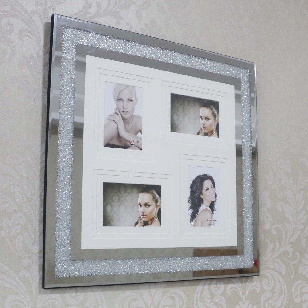 Quatre en un Photos combinaison cadre mural cristal famille photo cadre carré mural décoration de la maison cadre photo