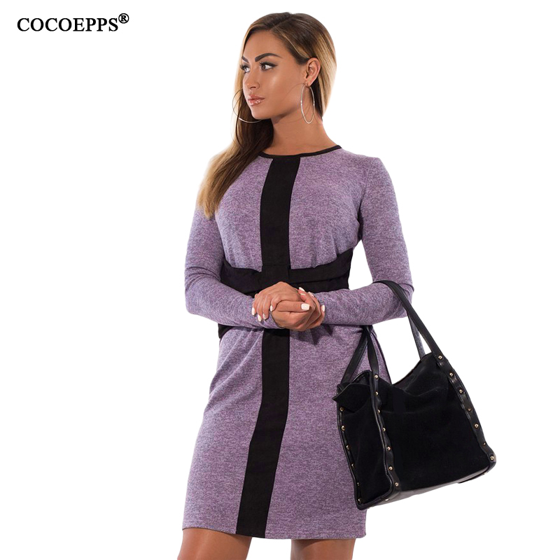bcff0dbd615 Товар 2017 Fashion women big size Elegant Dresses New Autumn Winter Plus  size O neck Straight Dress Large size office dresses Vestidos -