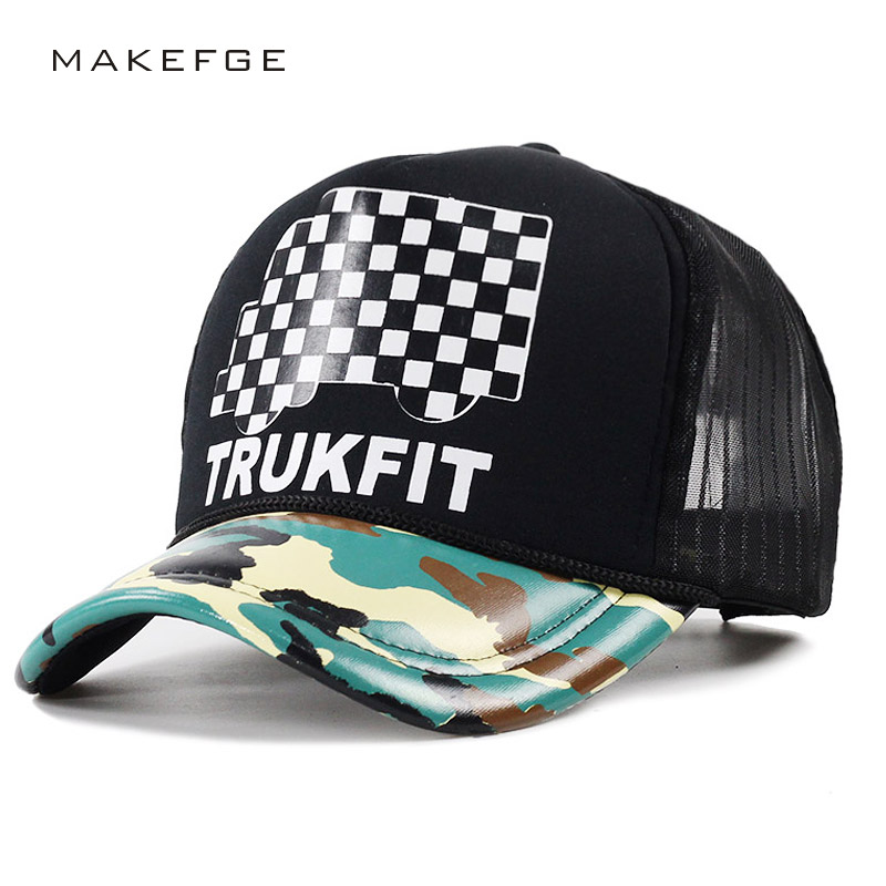fashion Trucker Cap men Snapback caps Breathable Mesh Baseball Cap Women sun Hats For Men Unisex Hip Hop Casquette TRUKFIT cntang summer trucker hat women men mesh baseball cap fashion hip hop print coconut tree caps snapback casual sun hats unisex