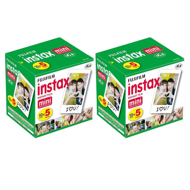 Genuino de la alta calidad origina fujifilm instax mini solo paquete de 100 hojas de película instantánea para fuji cámaras instantáneas válida para 2018