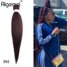 Aigemei High Temperature Fiber Braiding Hair For Crochet Braids False Extensions African Jumbo Women 22 Inch