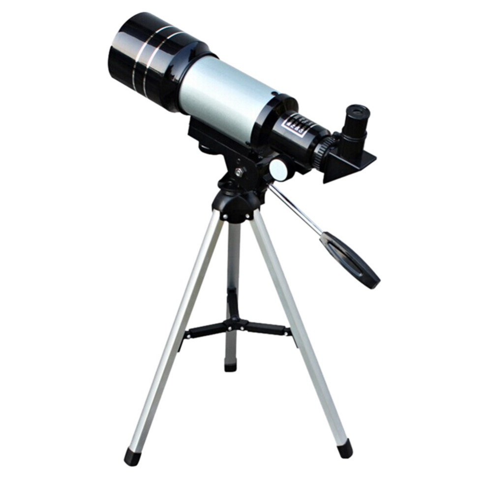 2017 1pc Monocular Professional Space Astronomical Sliver Telescope with Tripod Barlow Lens Eyepiece Moon FilterTripod Refractor  цены