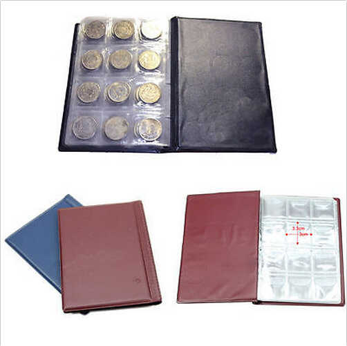 New Arrive 1 Pcs 120 Coin Collection Holders Money Penny Pockets Storage Album Book Supply