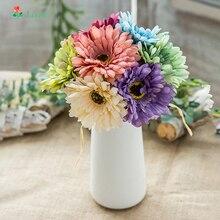 6Pcs Flower Daisy Flowers Branch Silk 30cm Flores Artificiales Para Decoracion Hogar Fall  Fake Beauty Forever