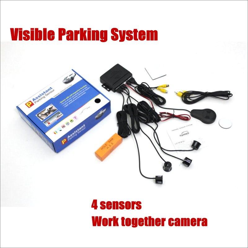 Liislee Car Parking Sensor System 4 Sensors Model Visual BIBI Alarm For Connecting Reverse Camera Work