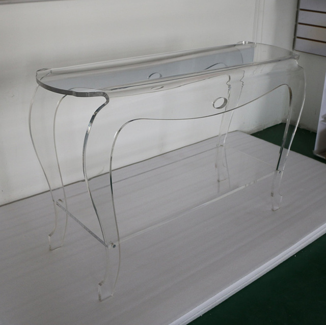 Beautiful High Transparency Acrylic Console Table,Plexiglass Lucite Vanity Desk