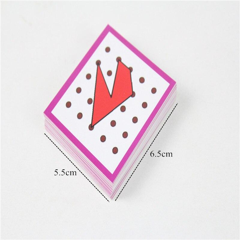 Brinquedos de Matemática com cartas preschool educação infantil Atenção : Small Parts