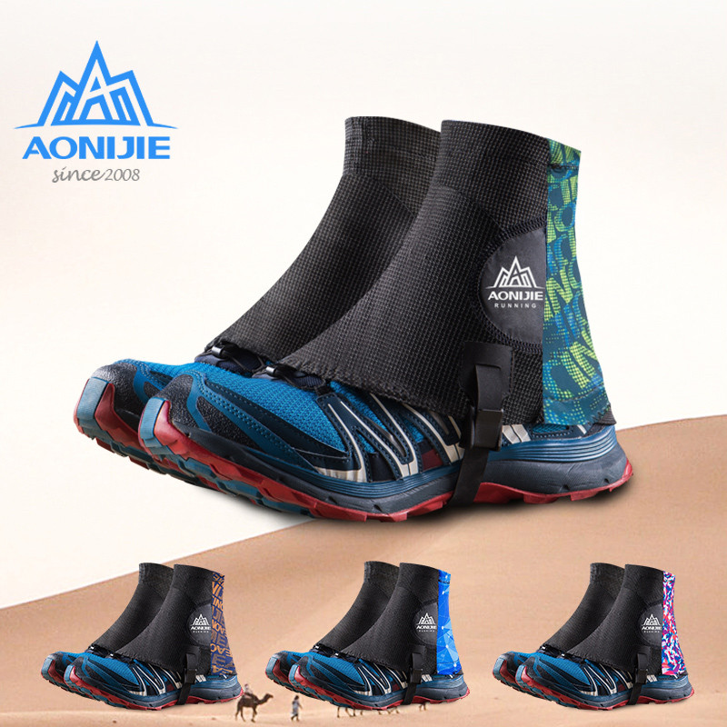 AONIJIE Men Women Running Trail Gaiters Protective Adjustable Sandproof Shoe Covers Non Slip Waterproof Hiking Camping Climbing