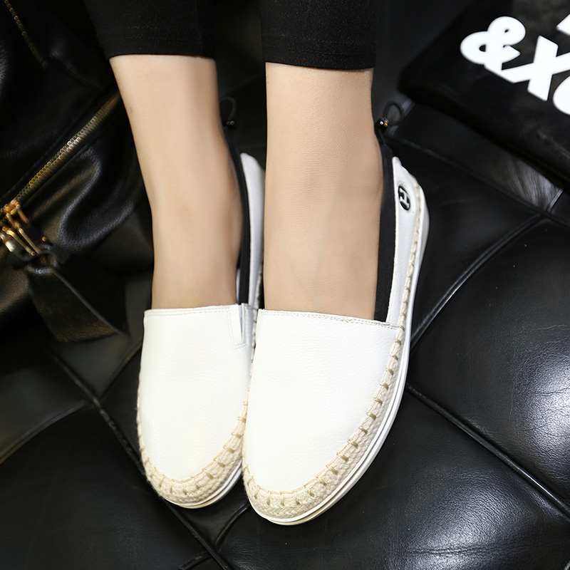 ФОТО Women's Ballet Flats Moccasins Real Leather Slip-on Leisure Casual Ballerians Shoes for Women Brand Designer Espadrilles Loafers