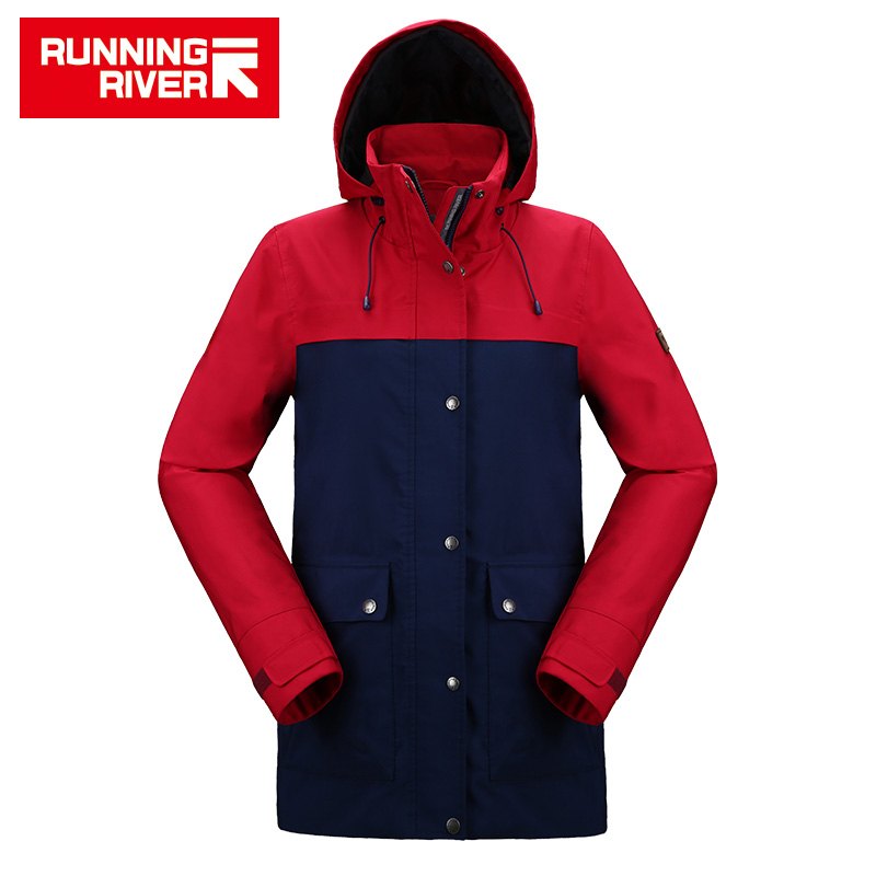 RUNNING RIVER Women Camping Hiking Jacket 4 Colors Size 36 - 46 High Quality Clothes Outdoor windbreaker Windproof coat#K8363 running river brand winter thermal women ski down jacket 5 colors 5 sizes high quality warm woman outdoor sports jackets a6012