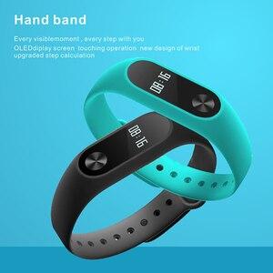 Image 2 - Banda Pulseira Smartband HORUG Inteligente Rastreador De Fitness Pulseira Inteligente Pulseira Pedômetro Esporte Heart Rate Monitor da Pressão Arterial