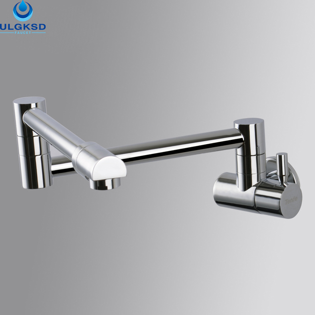 ULGKSD Chrome 360 Rotation Kitchen Faucet Kitchen Tap Wall Mount ...