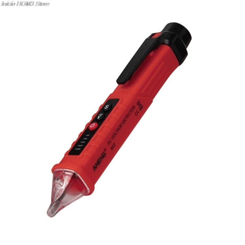 VD802 бесконтактный переменного тока детектор напряжения метр тестер 12В-1000В тип ручки электрический светодиодным индикатором розетке переменного тока индукции напряжение Dectet