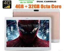 10 pulgadas de la tableta 3G Llamada de Teléfono 4G LTE Octa Core 4 GB RAM 64 GB ROM Android 6.0 OS 190*1200 IPS de la Pantalla 8.0MP GPS de la tableta 10 7 8 9.6