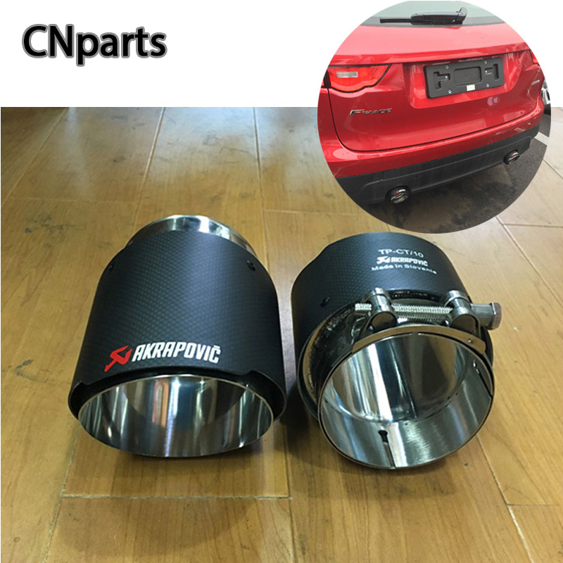 CNparts 2pcs For Jaguar XF F-PACE XE X240 Accessories 2.0T 3.0T TSI Car Exhaust Tips Pipe Muffler Pipe Covers Carbon FiberCNparts 2pcs For Jaguar XF F-PACE XE X240 Accessories 2.0T 3.0T TSI Car Exhaust Tips Pipe Muffler Pipe Covers Carbon Fiber