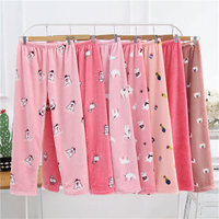 Women S Sleep Bottoms New Autumn Winter Women Cute Flannel Sleep Pants Sleep Lounge Plus Size