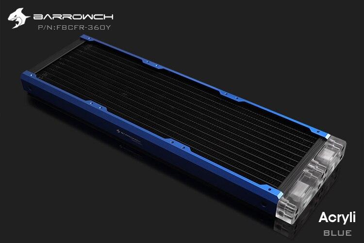 Barrowch FBCFR-360, хамелеон рыбы модульные 360 мм радиаторы, акрил/Пом съемные радиаторы, подходит для 120 мм вентиляторов - Цвет лезвия: Acrylic-Blue