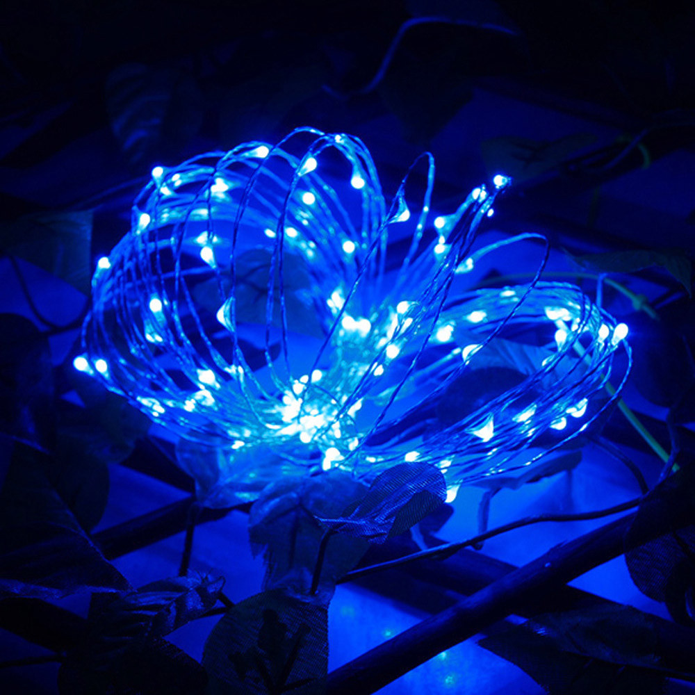 String Light 100 LED Battery Operated Decoration Xmas Lights Party Wedding Colorful Outdoor Fashion