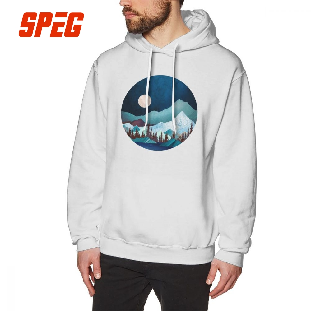 32ef778d58 Moon Bay Hoodies Men Graphic Hoodie Shirt Night Trees Forest Mountains  Nature 100% Cotton Design. US $20.65. T Shirts Motorcycle ...