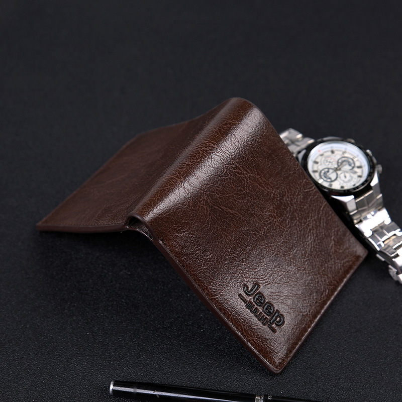 Hot Style Men's Gift New Fashion Custom Wallet Classic Short Two - Fold Multi - Slot Wallet Wallet
