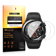 For Huawei Watch 2 Classic & Pro Glass Screen Protector SUNDATOM Tempered Glass 2.5D Round Edge Anti-scratch