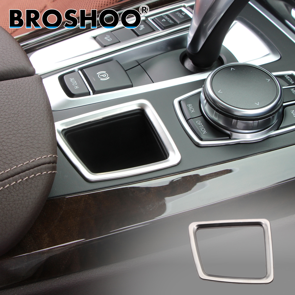 BROSHOO Car Storage Box Sticker 3D Decals For Bmw X5 F15 X6 F16 2014-2017 Auto Car Styling Interior Accessories