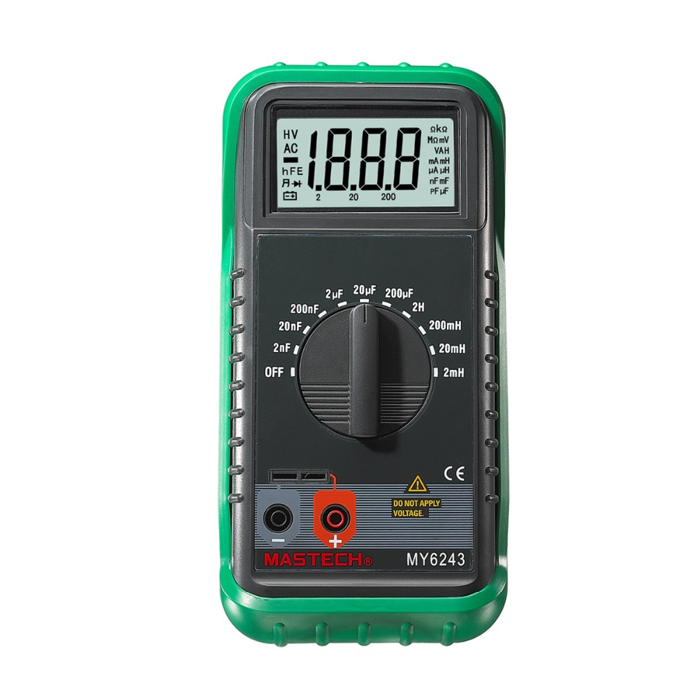 MASTECH MY6243 Portable 3 1/2 1999 count digital LCR Meter inductance capacitance tester 3 1 2 1999 count digital lc c l meter inductance capacitance tester mastech my6243