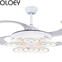 Modern intelligent ceiling fan light LED remote control ceiling fan light 42 inch dining room bedroom living room lighting