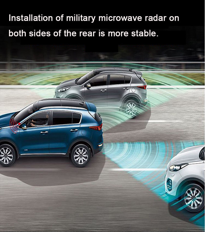 Image 3 - Car BSD blind point lane change auxiliary system microwave radar parallel line auxiliary warning BSD blind area monitoring syste-in Parking Sensors from Automobiles & Motorcycles