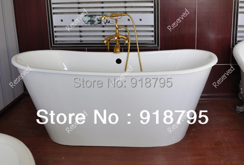 Free shipping Iron luxury bathtub use for indoor cast iron tubs with skirting