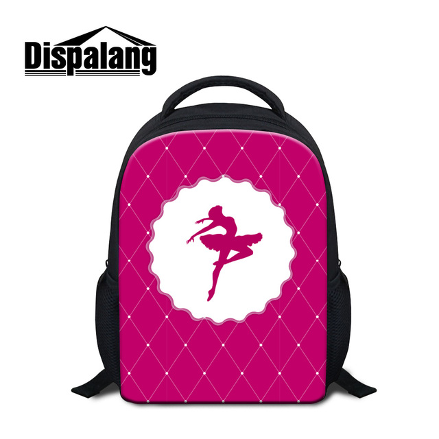 1524666468b3 US $21.32 |Dispalang cute ballet girl printing school book bag for kids 12  inch mini backpack for children rucksack for 1 5 years old girls-in School  ...