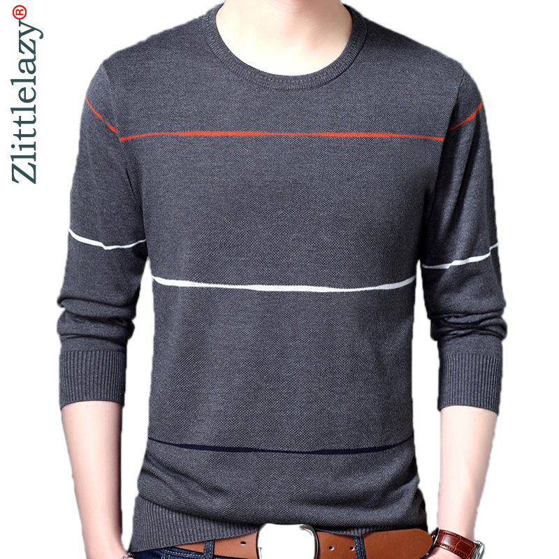 2019 Brand Korean Style Thin Striped Pull Sweater Men Wear Jersey Dress Luxury Pullover Mens Sweaters Male Spring Fashions 24009