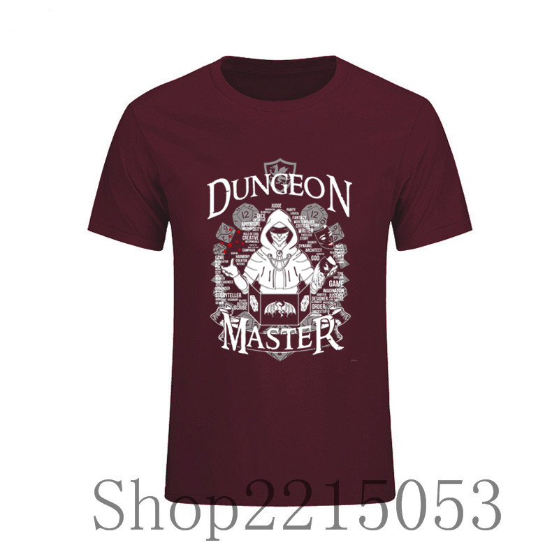 Custom Swag Tshirts Dungeon Master O Neck Short Sleeve Tops Hipster Tees Men's T-Shirt Skateboard Custom Male Movie T Shirts