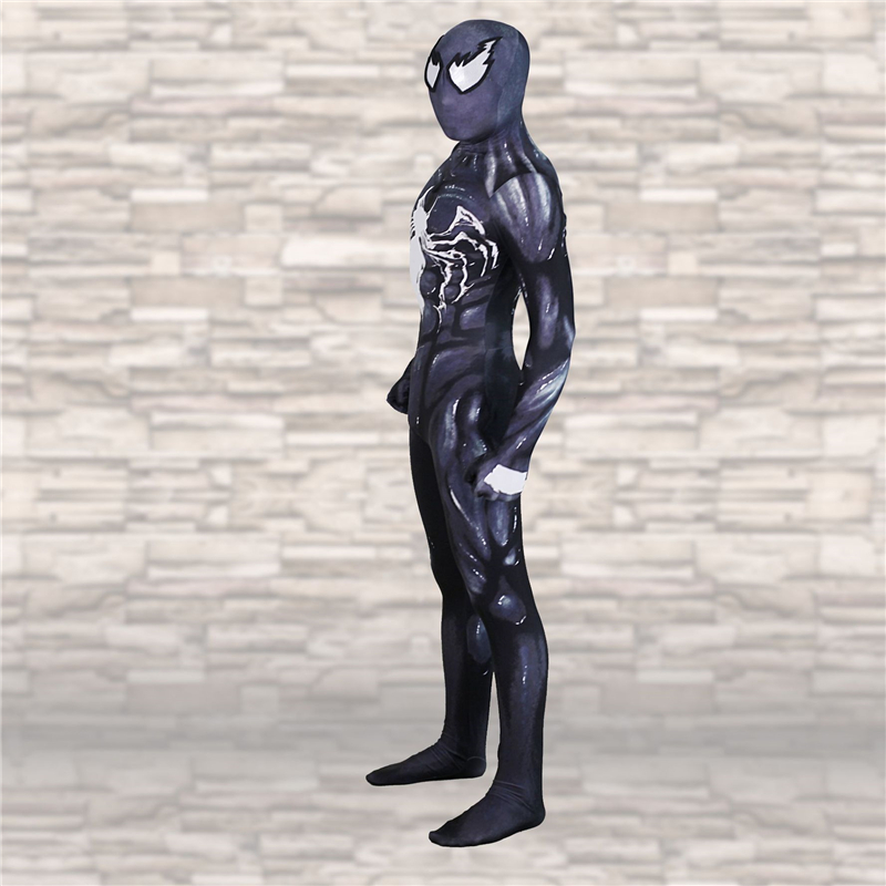 Adult Kids Spider Man Venom Symbiote Cosplay Dressing Zentai Superhero Bodysuit Venom Applicable Halloween Super Hero BOOCRE in Anime Costumes from Novelty Special Use