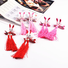 2Pcss New Chinese Style Cute Baby Tassels Rabbit Kids Hairpins Headwear Hair Clips Girls Accessories