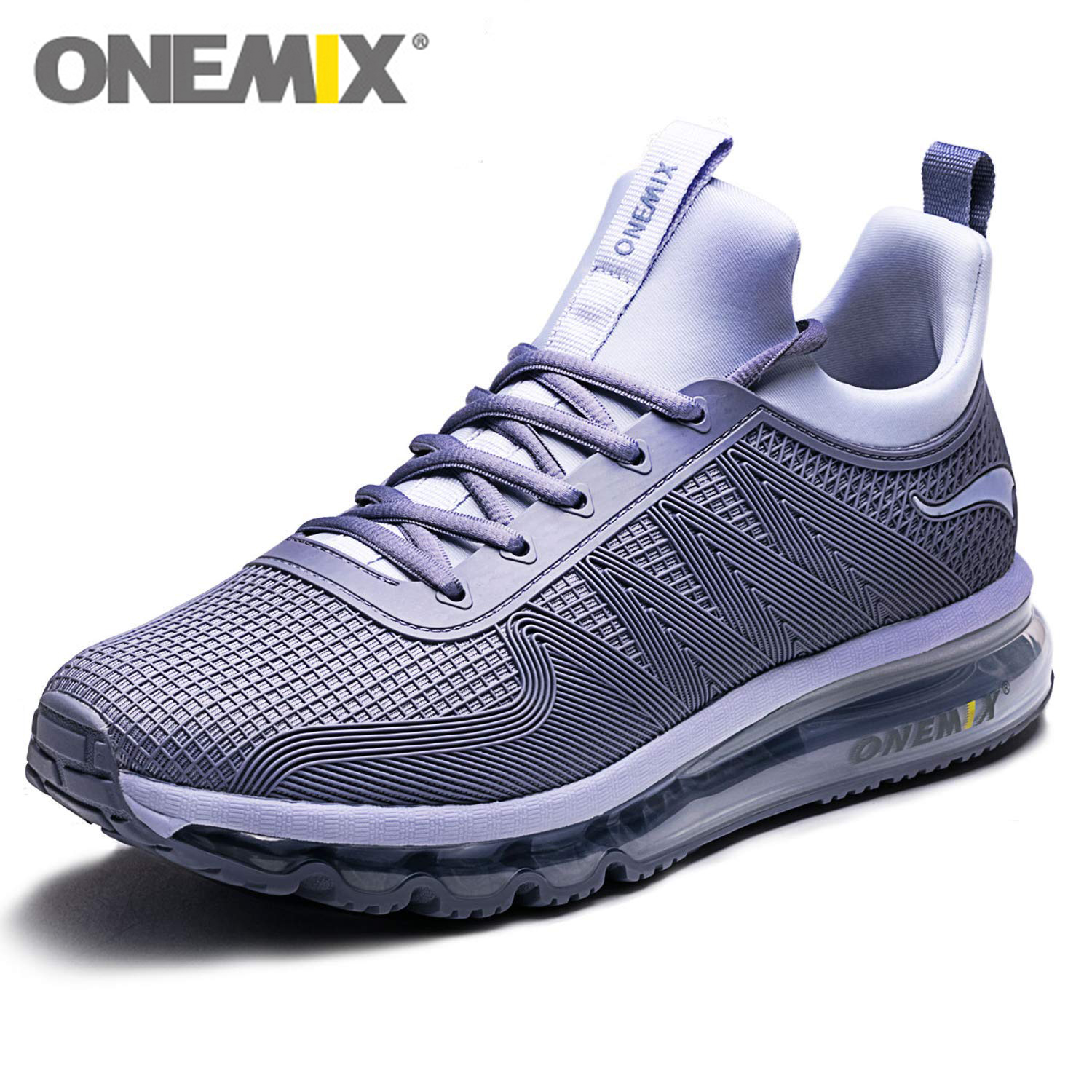 ONEMIX Men Air Running Shoes Slip on Design Outdoor Jogging Cushioning Sneakers Max 12 5