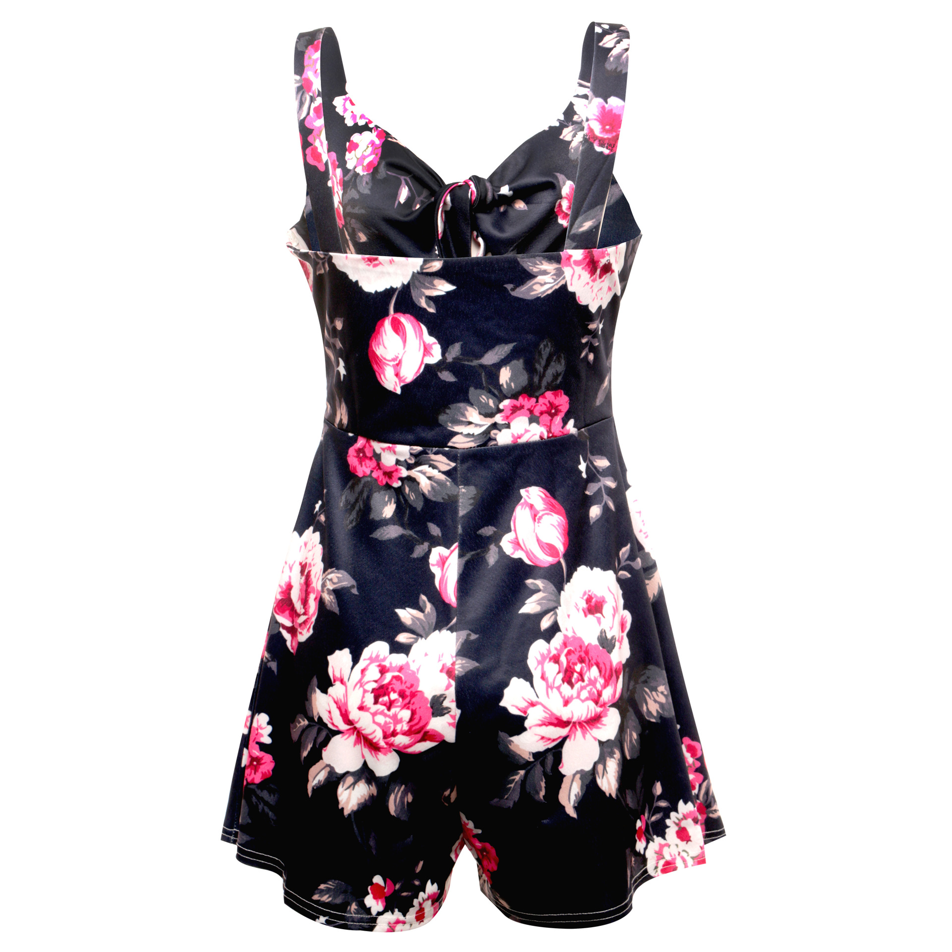 Women's Summer Print Jumpsuit Shorts Casual Loose Short Sleeve V-neck Beach Rompers Sleeveless Bodycon Sexy Party Playsuit 106