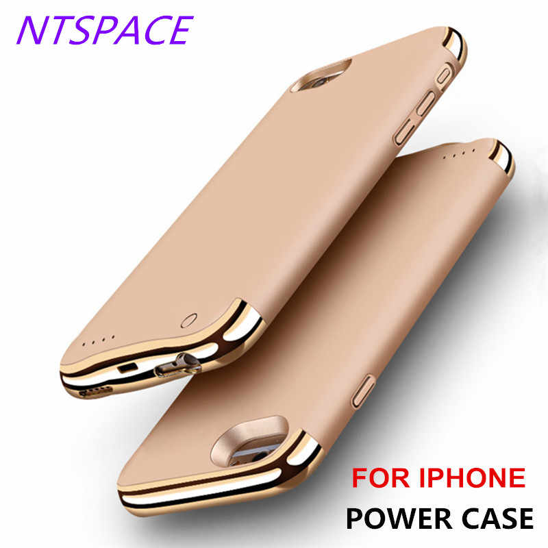 NTSPACE Backup Power Bank Pack For iPhone 6/6s/7/8 Wireless Back Clip Battery Case For iPhone 6/6s/7/8 Plus Power Charger Cases