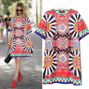 Image 2 - 2020 夏の女性の黒青花プリントビーチドレスプラスサイズの女性かわいいストレートサンドレスミディカジュアル太陽ドレスローブ 2162