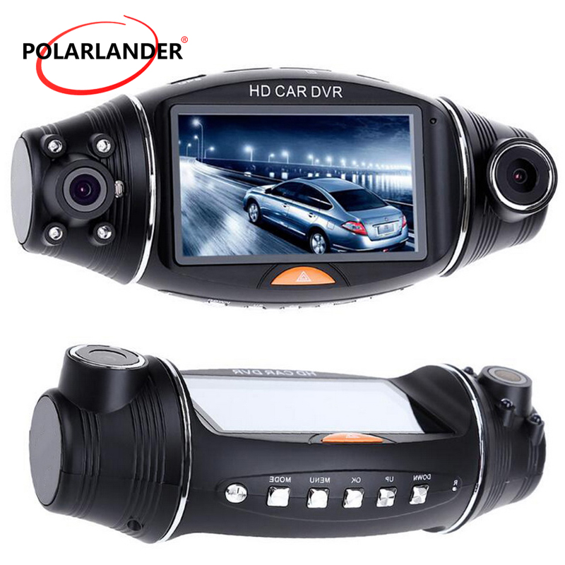 1080P Car Camera 2.7 Inch Infrared Night Vision Camera G-sensor GPS Logger Dash Cam HD Dual Lens DVR R310 TFT LCD Video Recorder