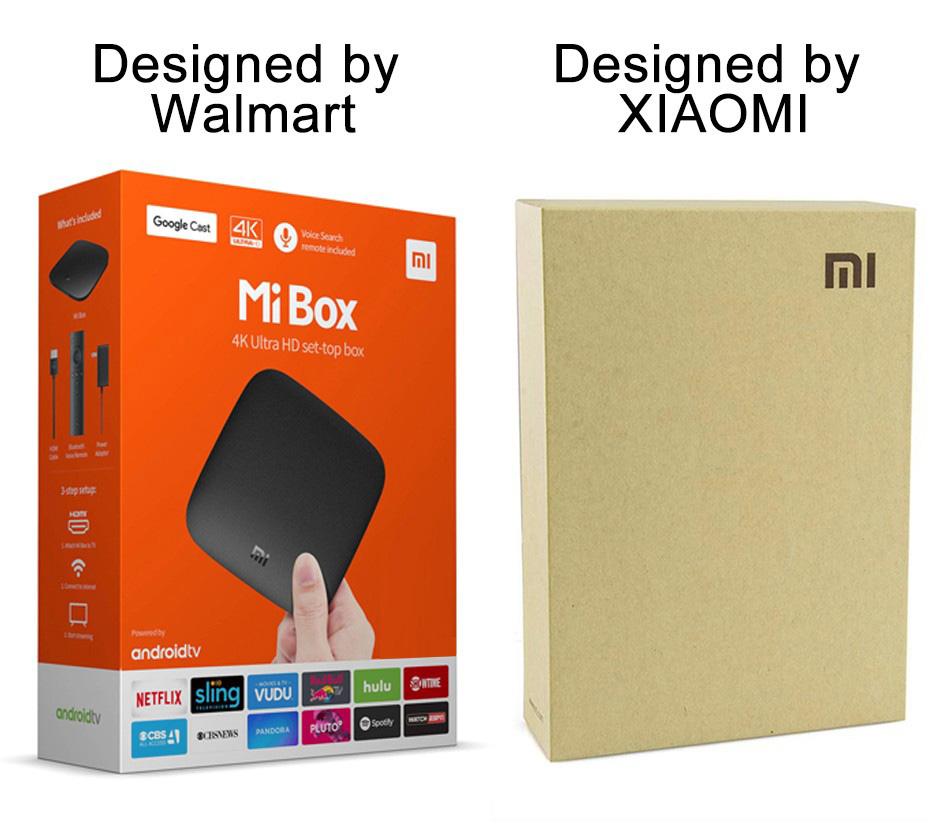 Original Xiao mi mi TV BOX 3 Smart 4 karat Ultra HD 2g 8g Android ...