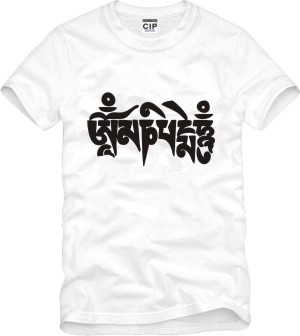 Summer men women thangka culture t shirt buddhism Om Mani Padme Hum printing short sleeve o neck t-shirt plus size 6 color tees