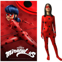 Hero Catcher Kids Girls Miraculous Ladybug Cosplay Costume For Kids Children High Quality Tailor Ladybug Suit