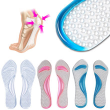 Full length Silicon Gel Insole Feet Relieve Foot Pain Shoes Pad Arch Support Heel Protection Metatarsal Massage Insoles Pads(China)